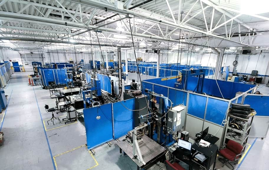 A large automotive testing and development services facility