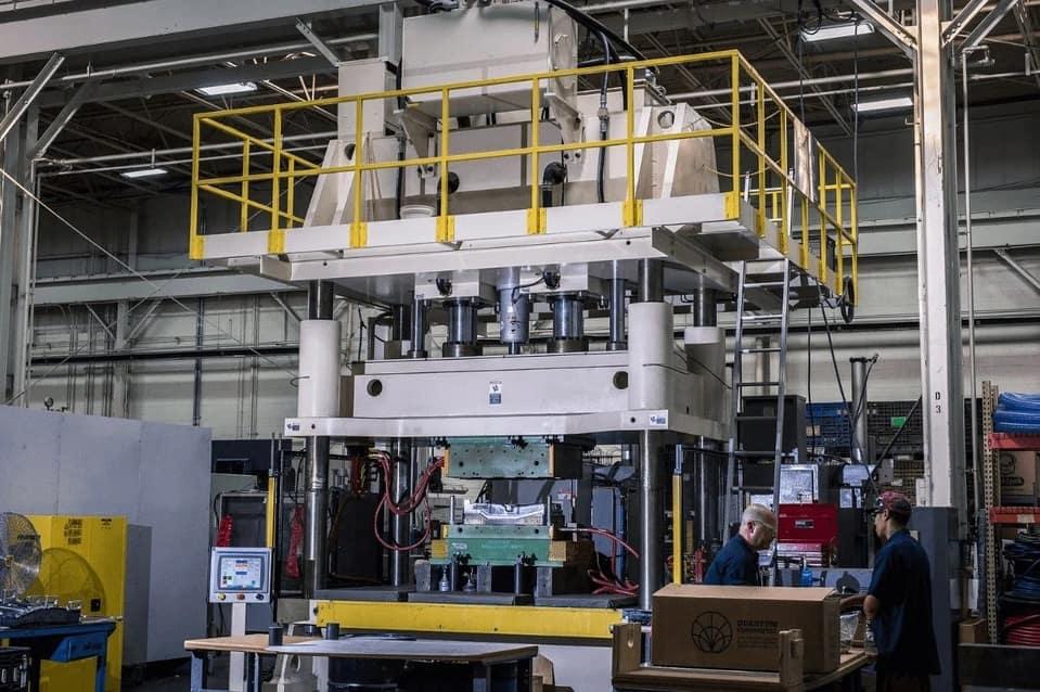 A large compression molding machine