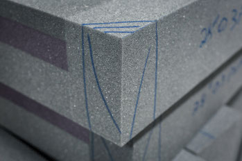 Foam blocks used for aerospace seating made by aerospace manufacturing services