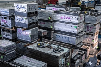 Stacks of prototypes made by prototype tooling