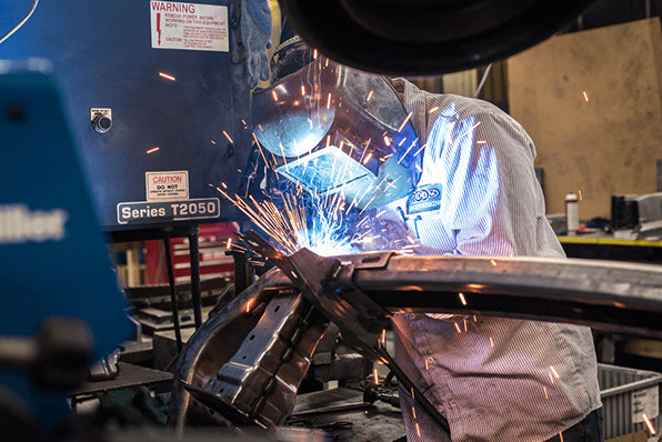 Automotive welding at low-volume metal fabrication supplier