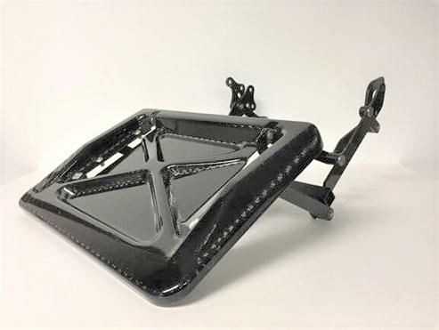 A carbon fiber compression molding