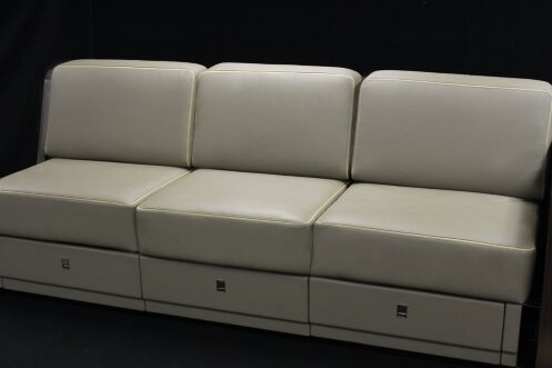 A leather appointed aerospace Divan.
