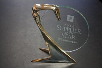 RCO's Supplier of the year award from GM.