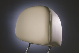 An automotive headrest produced by RCO and their automotive manufacturing services