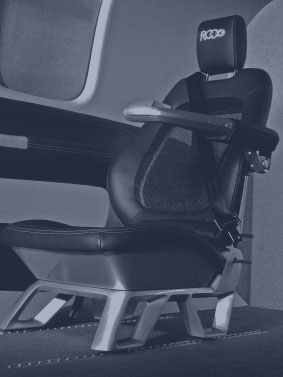 A prototype of a thin aerospace seat design made by rapid prototyping services