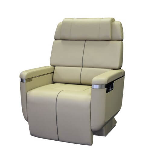 A high end business jet aerospace seat.