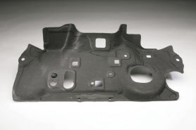 A compression molded component produced by RCO for a prototype car.